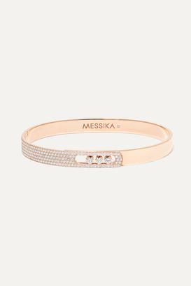 Messika Move Noa 18-karat Pink Gold Diamond Bangle - Rose gold