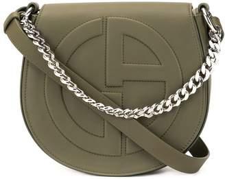 Giorgio Armani embossed logo crossbody bag