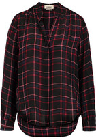 L'Agence Bianca Plaid Silk Shirt