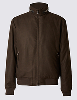 M&S Collection Wadded Bomber Jacket with Concealed Hood