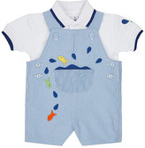Florence Eiseman Fish Appliqué Polo Shirt & Overalls Set