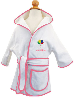 Cece Dupraz Kid's Terry Balloon Hooded Cover-Up Robe, Personalized
