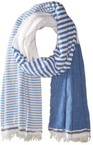 Scotch & Soda Structured Scarf with Short Fringes