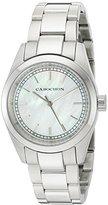 Cabochon Women's 'De Ce Monde' Swiss Quartz Stainless Steel Casual Watch, Color:Silver-Toned (Model: 501)