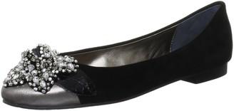 Beverly Feldman Women's Balta Pewter/Black Ballet Flats 3 UK