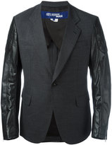 Junya Watanabe Comme Des Garçons Man - paneled blazer - men - Wool/Polyurethane Resin/Cupro - L