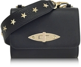 RED Valentino Black Leather Shoulder Bag w/Stars