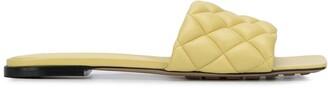 Bottega Veneta Quilted Square-Toe Sandals