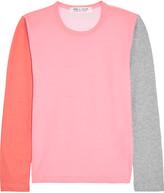 Comme des Garcons Color-block Cotton-jersey Top - Pink