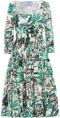 Prada Graphic Print Dress