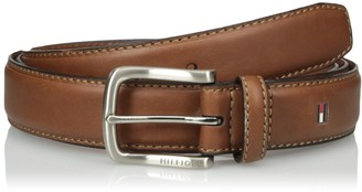 Tommy Hilfiger Men's big-tall Men's Big-tall Casual Belt With Stitch Edges and Brushed Nickel Buckle