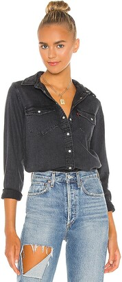Levi's Essential Western Top. - size L (also