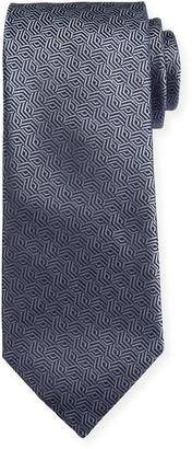 Canali Silk Cable Motif Tie, Gray