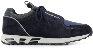 Emporio Armani Perforated Logo Sneakers