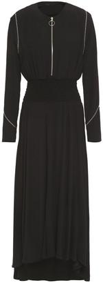 Maje Zip-detailed Studded Crepe Midi Dress