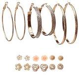 Charlotte Russe Embellished Stud & Hoop Earrings - 9 Pack