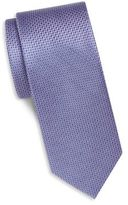 Saks Fifth Avenue Textured Solid Silk Tie