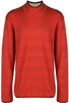 Issey Miyake Pre Owned striped lining turtleneck jumper