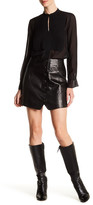 Rachel Zoe Ciara Silk Lined Genuine Leather Skirt