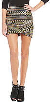 GB Sequin Wrap Hem Mini Skirt