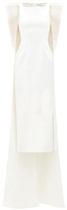 Emilia Wickstead Cruz Bow-applique Cloque-crepe Dress - Ivory