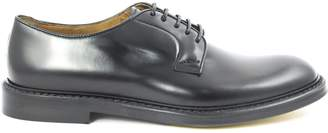 Doucal's Doucals Black Semi-glossy Leather Derby Shoes