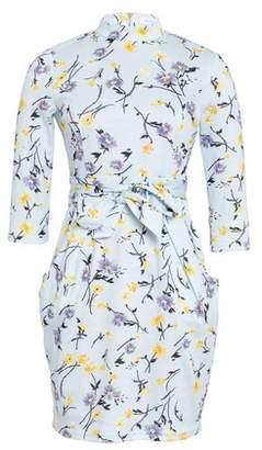 Dorothy Perkins Womens *Blue Vanilla Multi Colour Floral Print High Neck Shift Dress, Blue