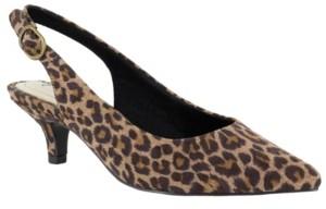 Easy Street Shoes Faye Slingback Kitten-Heel Pumps Women's Shoes