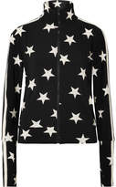 Norma Kamali Printed Stretch-jersey Track Jacket - Black