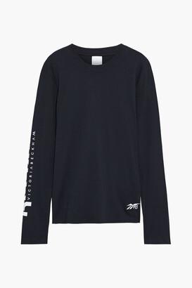 Reebok x Victoria Beckham Printed Cotton-jersey Top