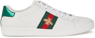 Gucci Ace Embroidered White Leather Sneakers