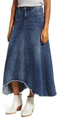WASH LAB Long Jean Skirt