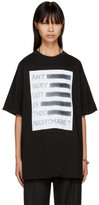 Raf Simons Black 'Any Way Out of This Nightmare?' Easy Fit T-Shirt