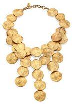Ralph Lauren Goldtone Disc Necklace