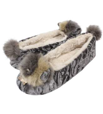 Ruby And Ed Ruby and Ed - In Faux Fur Puppy Ballerina Slipper - 3 - Grey