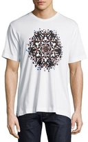 Robert Graham Kaleidoscope Skull Graphic T-Shirt, White