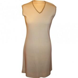 Rodier Ecru Wool Dress for Women