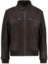 Tom Tailor Pan Leather Jacket Dark Brown