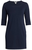 Thumbnail for your product : Joan Vass, Plus Size Racing Stripe Dress