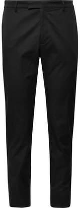 Prada Black Slim-Fit Tapered Stretch-Cotton Gabardine Trousers