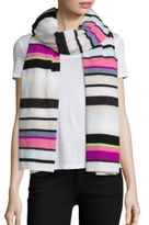 White + Warren Multicolor Stripe Travel Scarf