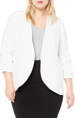 ELOQUII Relaxed Collarless Blazer