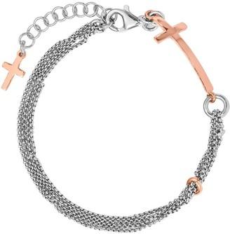 """Sterling Cross 7"""" Bracelet, 4.7g by Silver Style"""