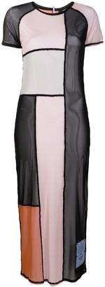 Mcq Swallow Colour-Block Semi-Sheer Dress