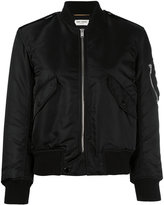 Saint Laurent classic bomber jacket - women - Cotton/Polyamide/Polypropylene/Wool - 36