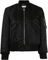 Saint Laurent classic bomber jacket - women - Cotton/Polyamide/Polypropylene/Wool - 38