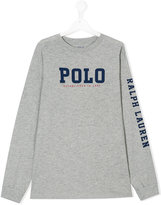 Ralph Lauren branded long-sleeved sweatshirt - kids - Cotton - 14 yrs