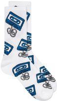Topman White Blue Cassette Tube Socks