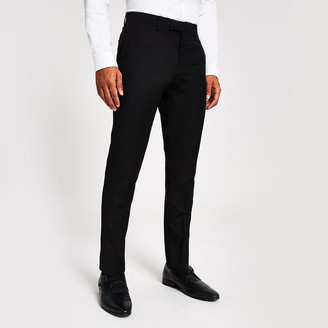 River Island Black skinny fit suit trousers