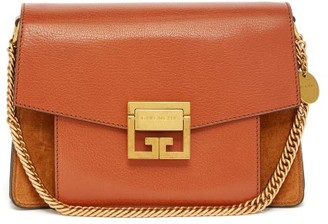 Givenchy Gv3 Mini Suede And Leather Cross-body Bag - Womens - Tan